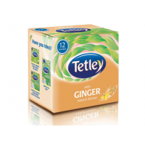 Tetley Tea Bags - Ginger (25 pcs Carton)