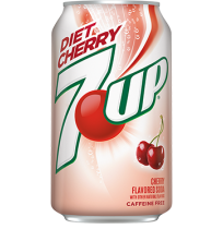 Diet Cherry 7 Up Soft Drink (Pack of 24)