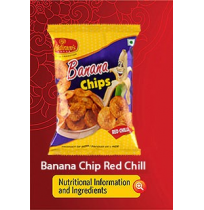 Haldirams Banana Chips - Red chilly 40gm Pouch