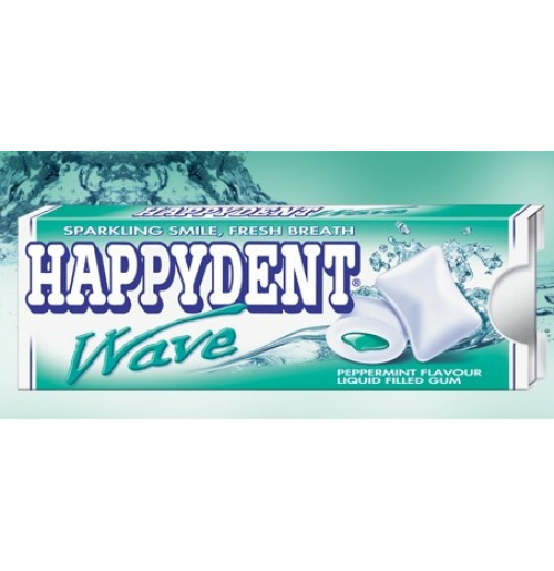 Happydent Wave Liquid Chewing Gum - Peppermint Flavour 17gm Carton