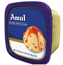 Amul ice cream -Buterscotch Bliss (1 ltr Tub)