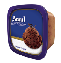 Amul Ice Cream - Choco Chips (1 lt Tub)