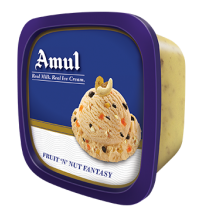 Amul Ice Cream - Fruit 'n' Nut Fantasy (1 ltr Tub)