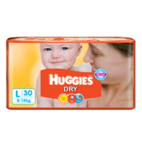 Huggies Dry Diapers  (L) - Pack of 2