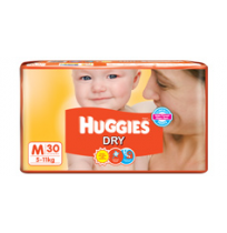 Huggies Dry Diapers  (M) - Pack Of 2