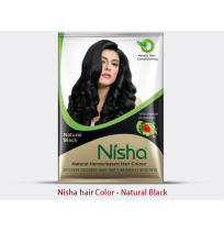 Nisha hair color black - sachet