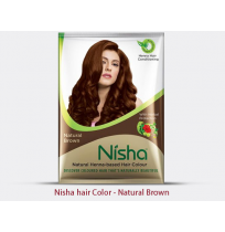 Nisha hair color brown - sachet